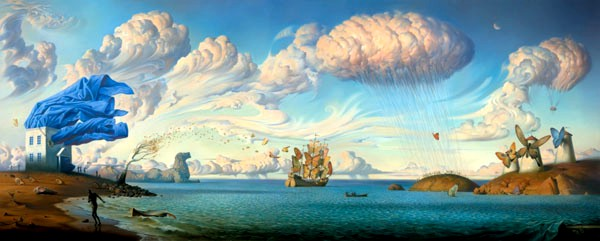 Vladimir Kush - Metaphorical journey